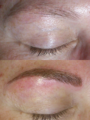 Foto's permanent make-up wenkbrauwen hairstrokes